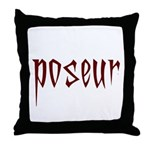 Poseur Throw Pillow