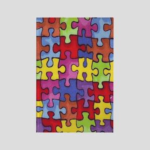 6.57_AUTISM-CURE-PUZZLE Rectangle Magnet