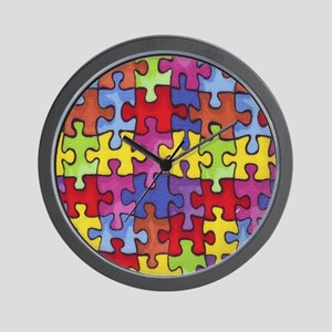 6.57_AUTISM-CURE-PUZZLE Wall Clock