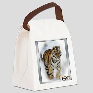 tiger stalking Canvas Lunch Bag