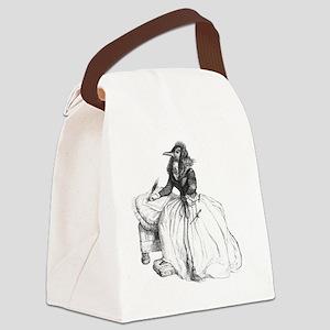 Bird Lady Canvas Lunch Bag