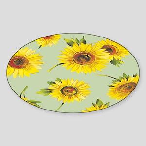 sunflower green Sticker (Oval)