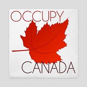 Occupy Canada-white Queen Duvet