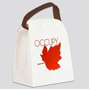 Occupy Canada-black Canvas Lunch Bag