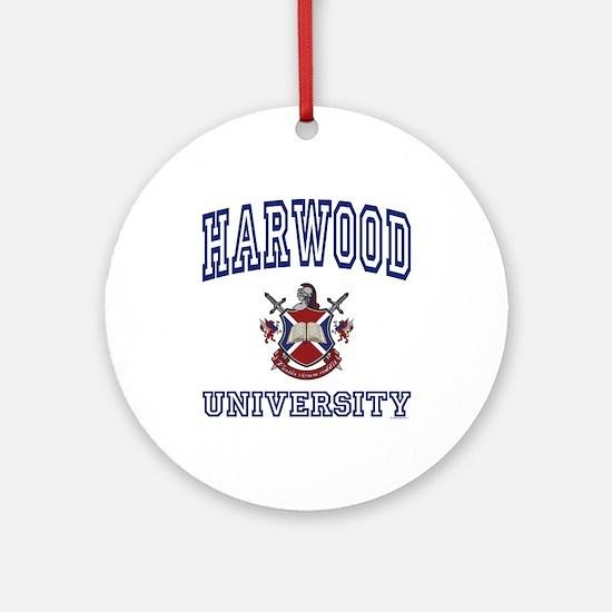 HARWOOD University Ornament (Round)