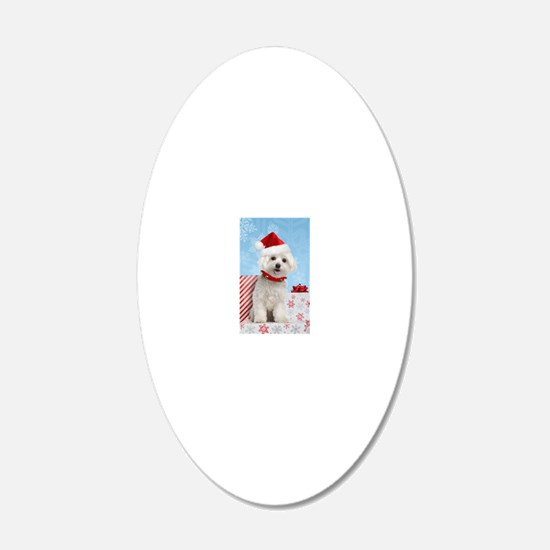 maltesechristmasfront Decal Wall Sticker