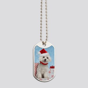 maltesechristmasfront Dog Tags