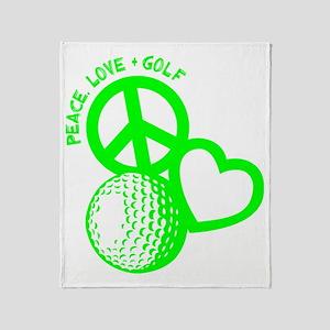 P,L,Golf, neon green Throw Blanket