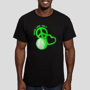 P,L,Golf, neon green Men's Fitted T-Shirt (dark)