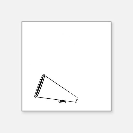 "P,L,Cheer, white Square Sticker 3"" x 3"""