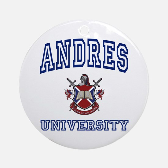 ANDRES University Ornament (Round)