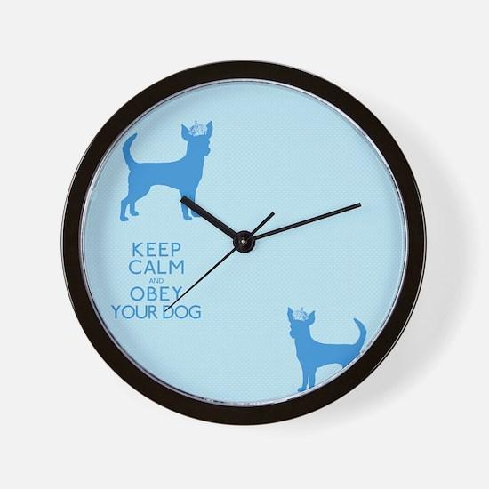 flipflopblue_obey Wall Clock