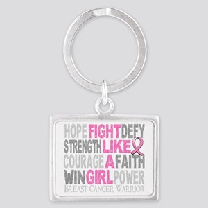 - Fight Like A Girl Breast Canc Landscape Keychain