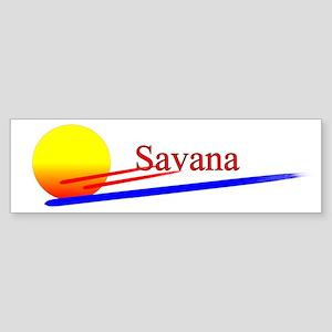 Savana Bumper Sticker