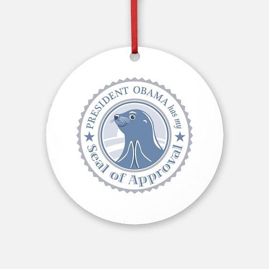 ObamaSealofApproval2 Round Ornament