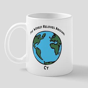 Revolves around Cy Mug