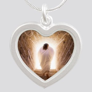 9.25x7.75_mousepad_JCresurre Silver Heart Necklace