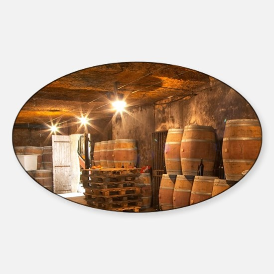 The underground winery and cellar i Sticker (Oval)