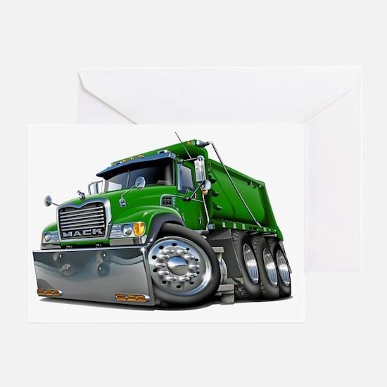 Mack Dump Truck Green Greeting Card