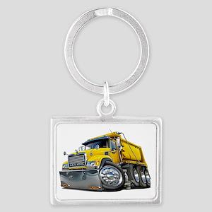 Mack Dump Truck Yellow Landscape Keychain
