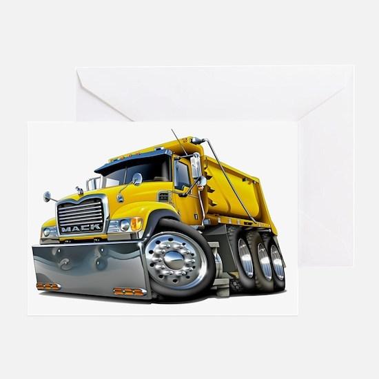 Mack Dump Truck Yellow Greeting Card