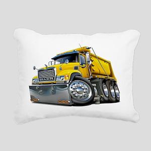 Mack Dump Truck Yellow Rectangular Canvas Pillow