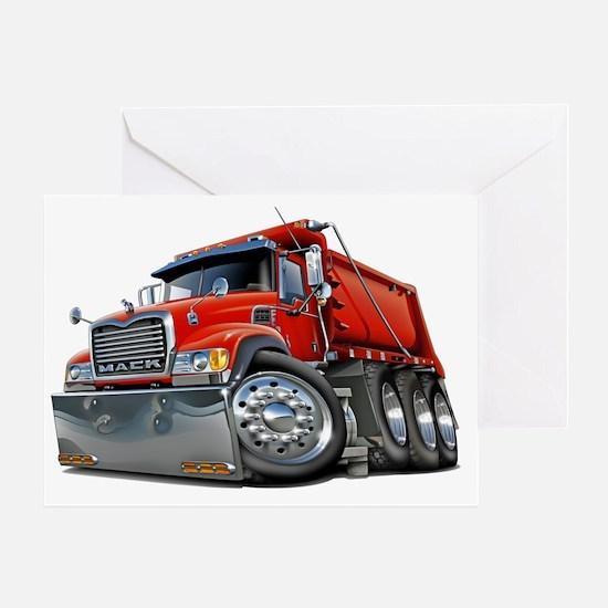 Mack Dump Truck Red Greeting Card