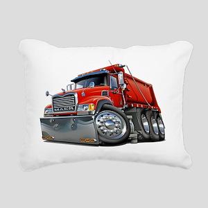 Mack Dump Truck Red Rectangular Canvas Pillow