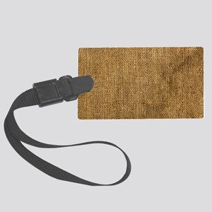 burlap coin Large Luggage Tag