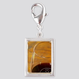Glass embossed marked with A Silver Portrait Charm