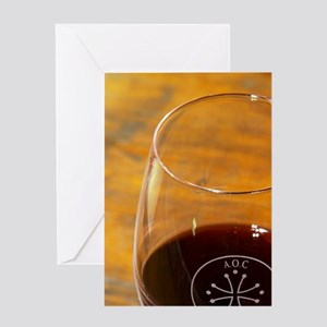 Glass embossed marked with AOC Langu Greeting Card