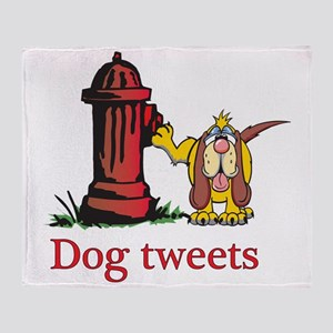 Dog tweets Throw Blanket