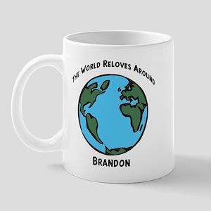 Revolves around Brandon Mug
