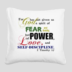 powerLove Square Canvas Pillow