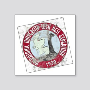 "MU Loch Ness Field Label Co Square Sticker 3"" x 3"""