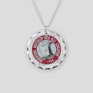 MU Loch Ness Field Label Col Necklace Circle Charm