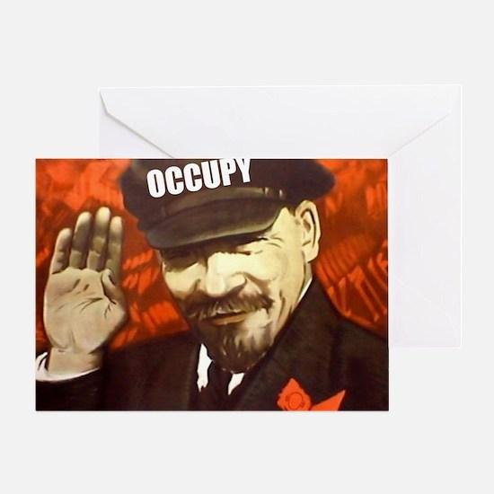 lenin_occupy Greeting Card