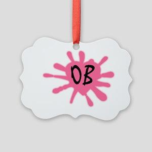 LogoOB-black Picture Ornament