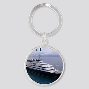 boat cover Round Keychain