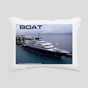 boat cover Rectangular Canvas Pillow