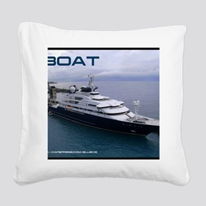 boat cover Square Canvas Pillow