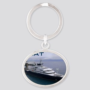 boat cover Oval Keychain