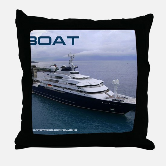 boat cover Throw Pillow
