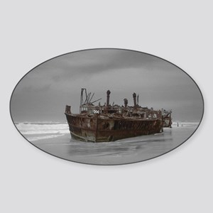 wreckage cover Sticker (Oval)