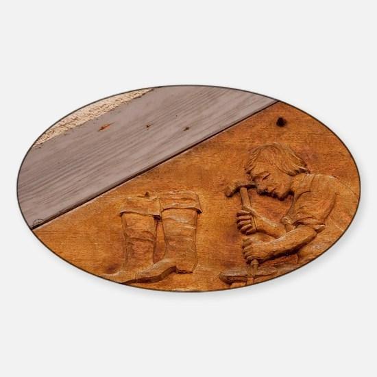 Medieval shoe makers sign, Wertheim Sticker (Oval)