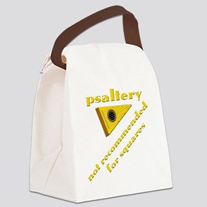 funny bowed psaltery and psalteri Canvas Lunch Bag