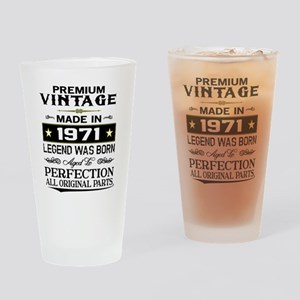 PREMIUM VINTAGE 1971 Drinking Glass
