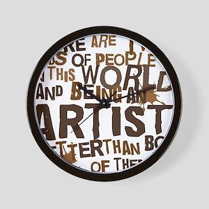 artist_brown Wall Clock