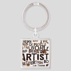 artist_brown Square Keychain