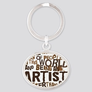 artist_brown Oval Keychain